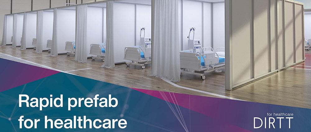 DIRTT prefabricated interiors healthcare flexible modular wall system