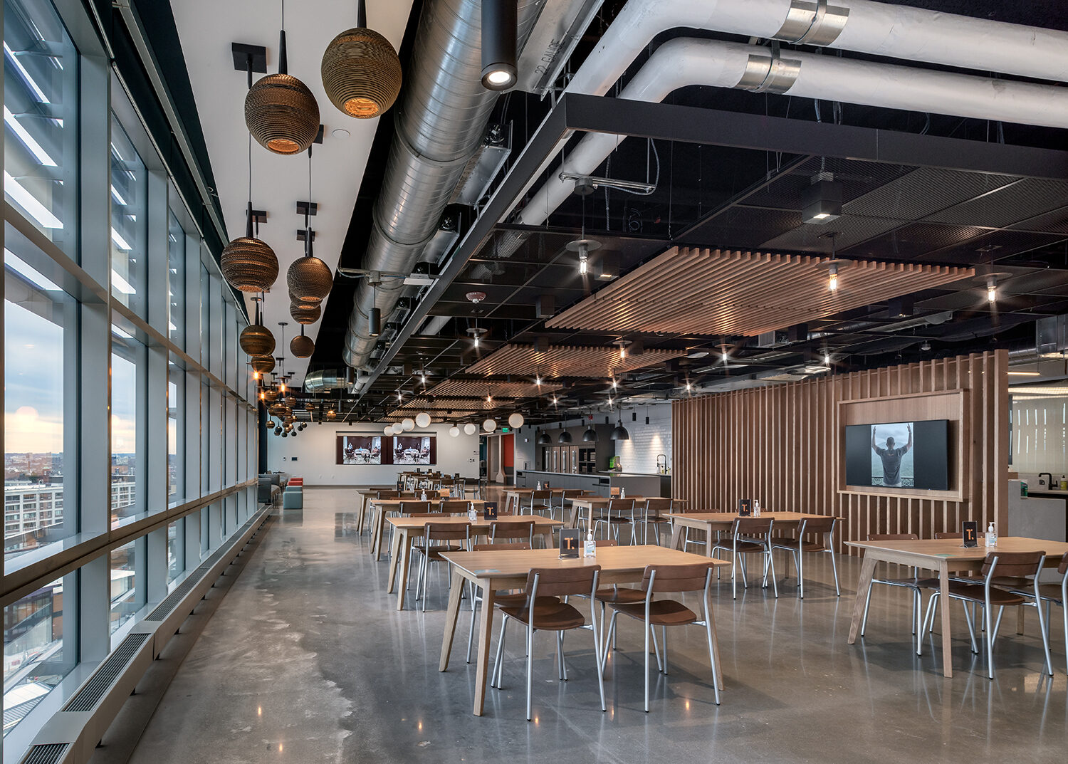 Thrive Boston Cafe space Creative Office Pavilion commercial office furniture