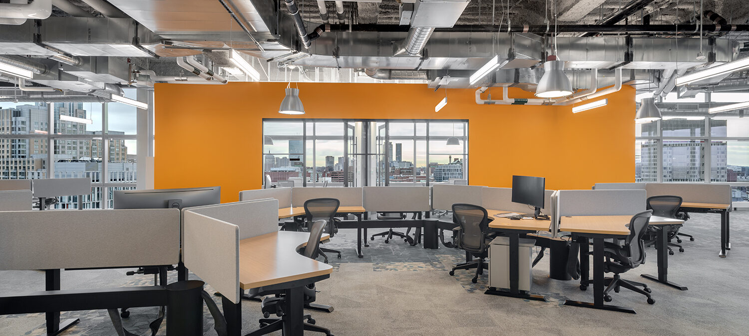 Workstations at Thrive Headquarters
