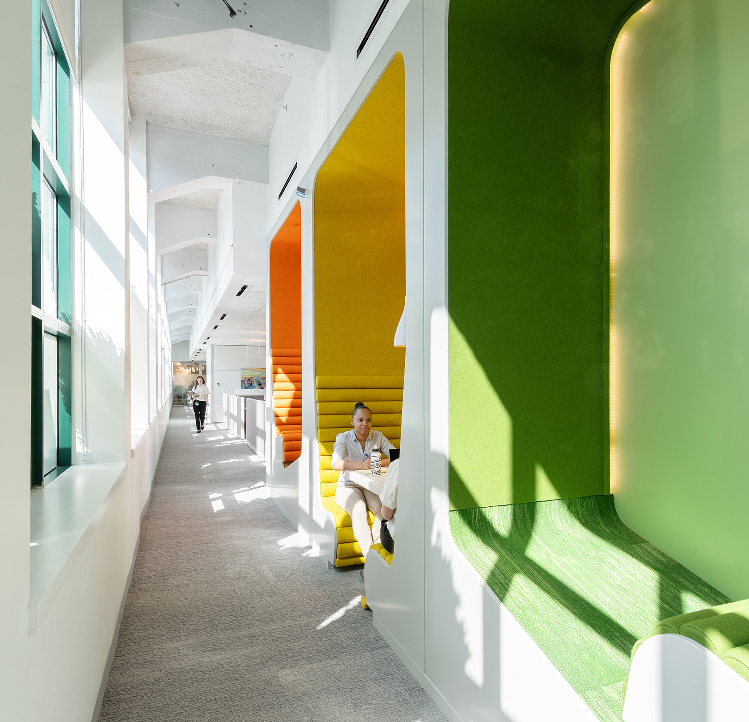 colorful privacy pods