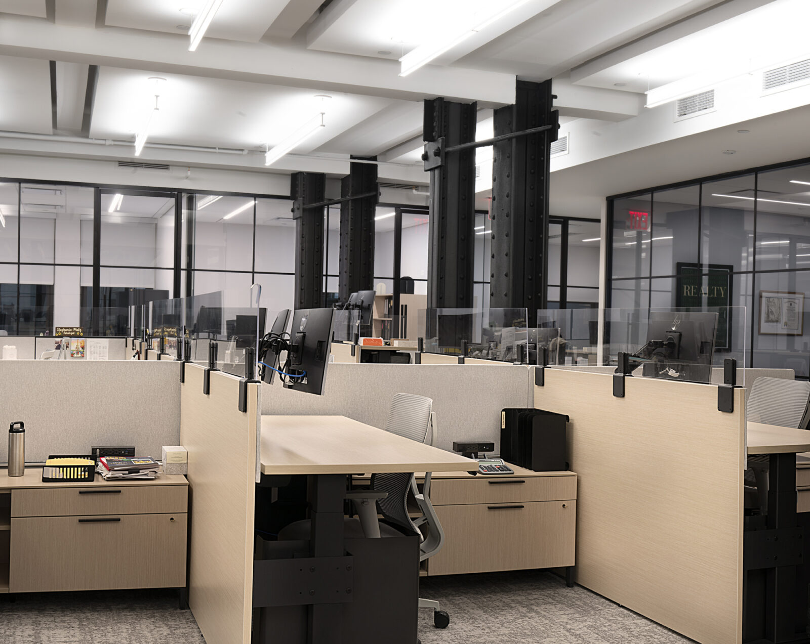 Herman Miller Workstations for Creative Office Pavilion Real Estate Client in New York City NYC Open Plan Office layout