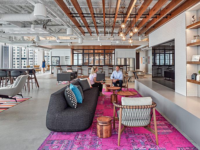 Boston office furniture geiger herman miller colorful workplace hiring