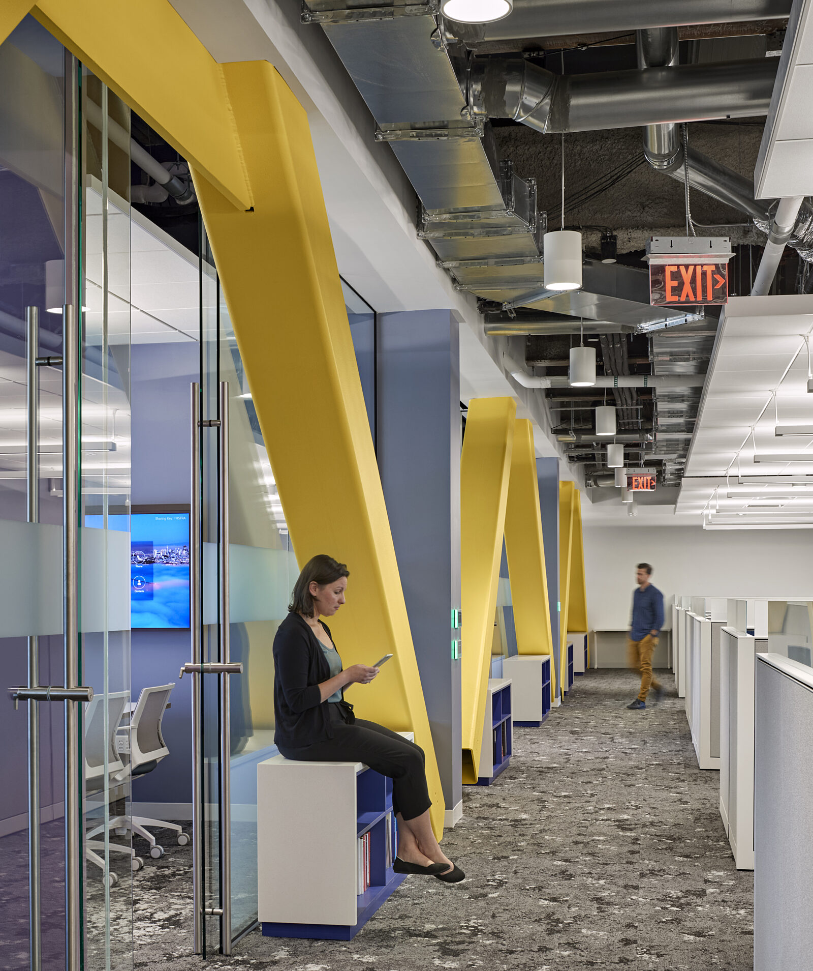 office, hallway, workstations, conference room