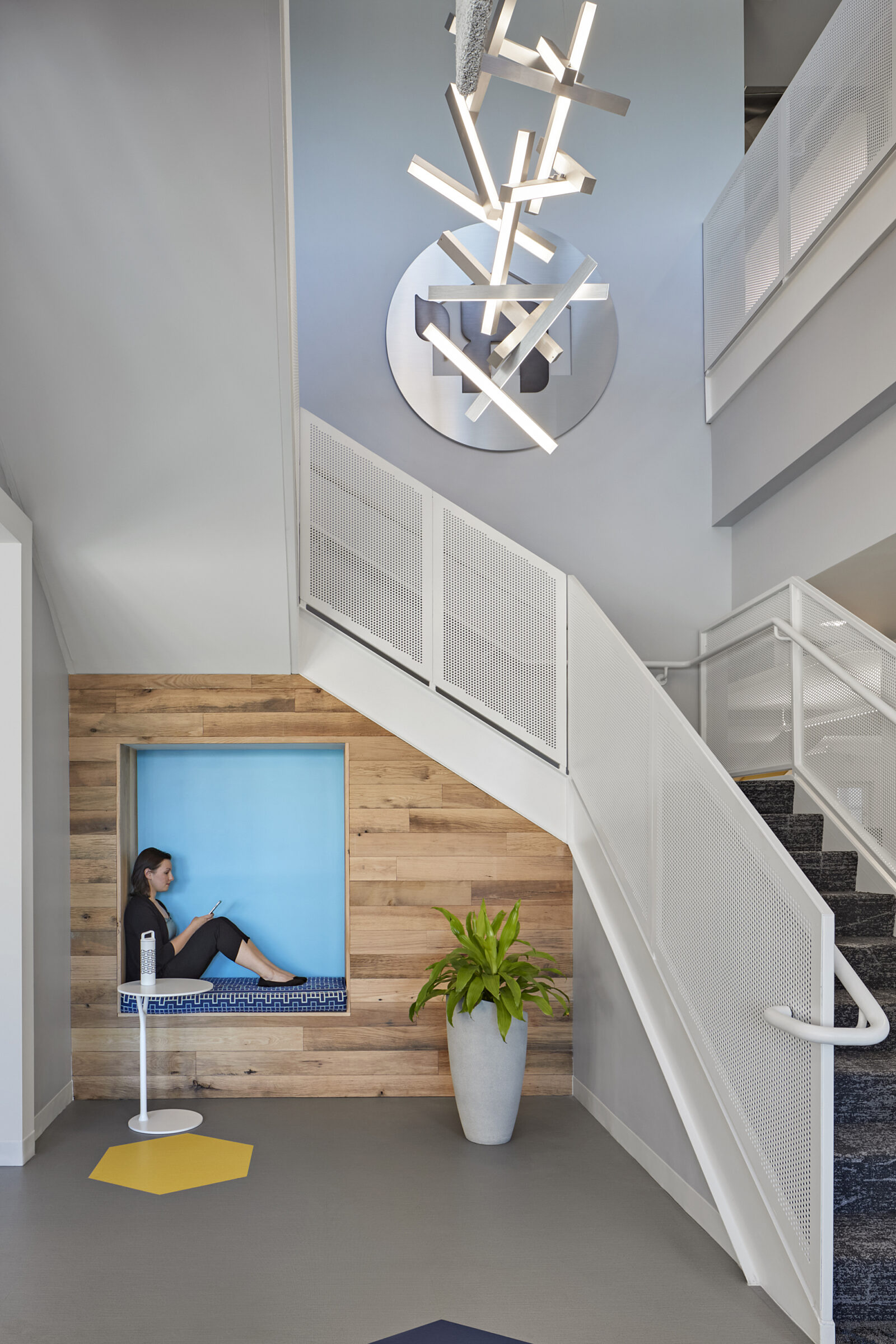 stairs, side tables